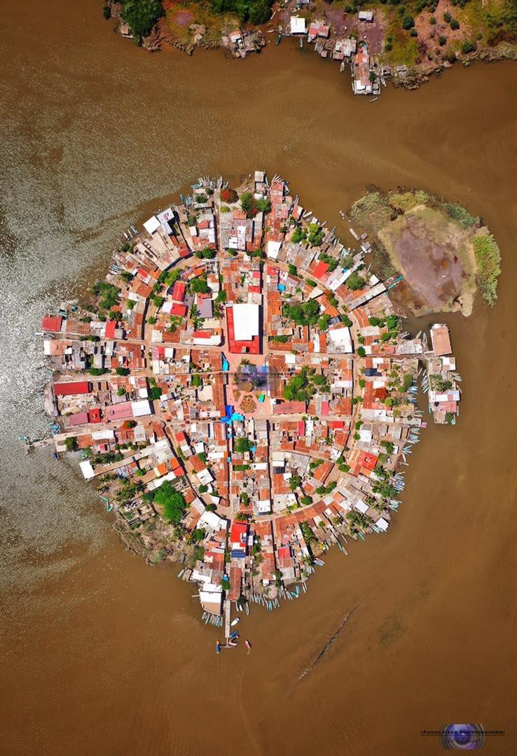Vista aerea de Mexcaltitián